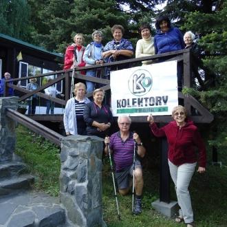 Členové Svazu postižených civilizačními chorobami na jednom ze svých výletů